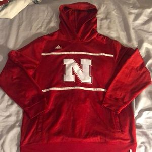 Red Large Adidas Nebraska Cornhuskers Sweatshirt